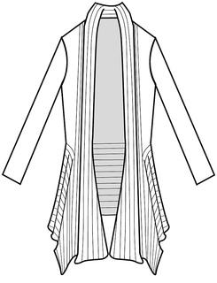 Ravelry: Slanted Rib Jacket Hand Knit pattern by Nancy Roberts