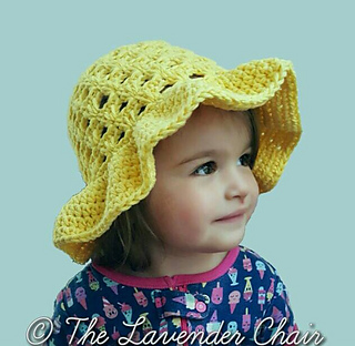 summer infant beach chair hyperextension roman equipment ravelry: lazy daisy sun hat kids pattern by dorianna rivelli