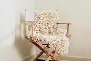 ravelry sheepskin chair throw