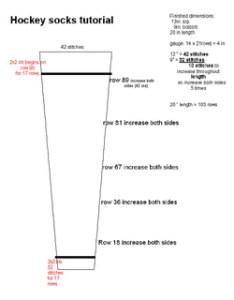 also ravelry hockey socks tutorial pattern by roni   downloads rh