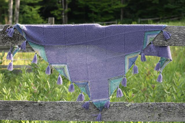 Puka Shawl Knitting Pattern in Berroco Folio and Berroco Folio Color