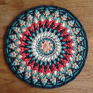 Ravelry Spanish Mandala Pillow overlay crochet pattern by