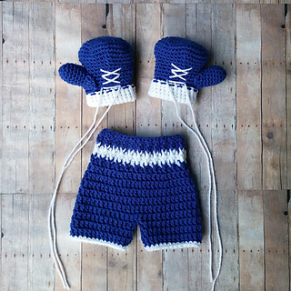 Ravelry Baby Boxer  Boxing Outfit pattern by Briana K