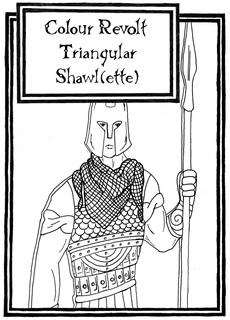 Ravelry: Colour Revolt Triangular Shawl(ette) pattern by