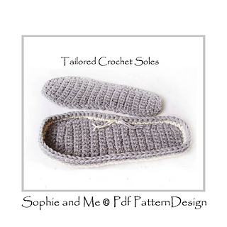 Ravelry: CROCHET SOLES ANY SIZE CUSTOMIZED pattern by