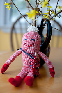 Free Knitting Pattern ♥ Valentine Mail Monster by Becca Brody