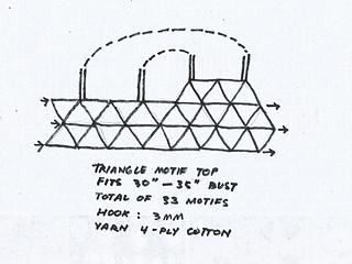 Ravelry: Triangle Flower Motif Top pattern by Fatima