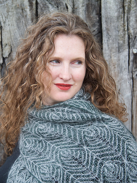 Pravigan by Robynn Weldon in rowan kid silk haze and ITO Sensai