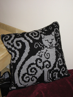 free cat cushion cover to knit # 36