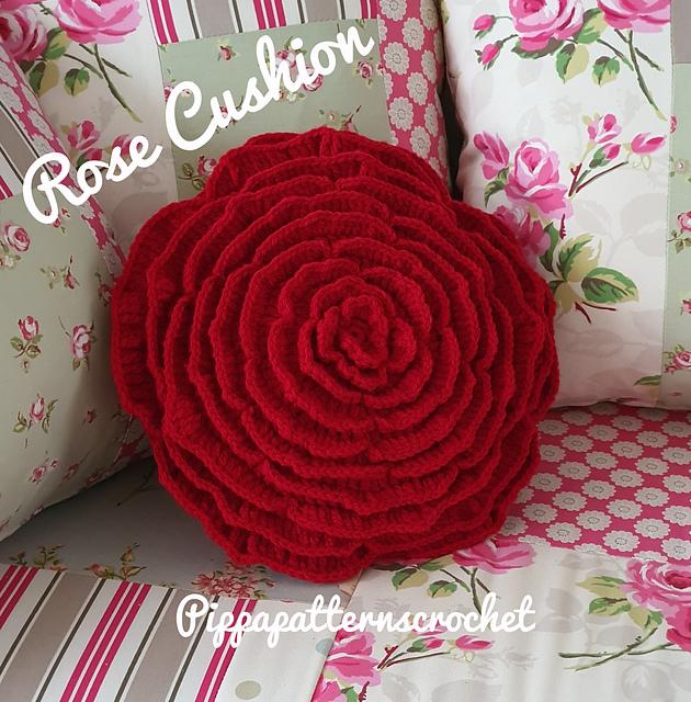 rose cushion pattern by connie rockliff
