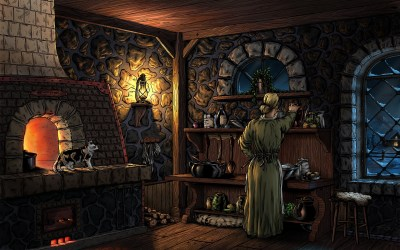 kitchen fantasy background deviantart paintings fel evening wallpapers deviant digital preview lady