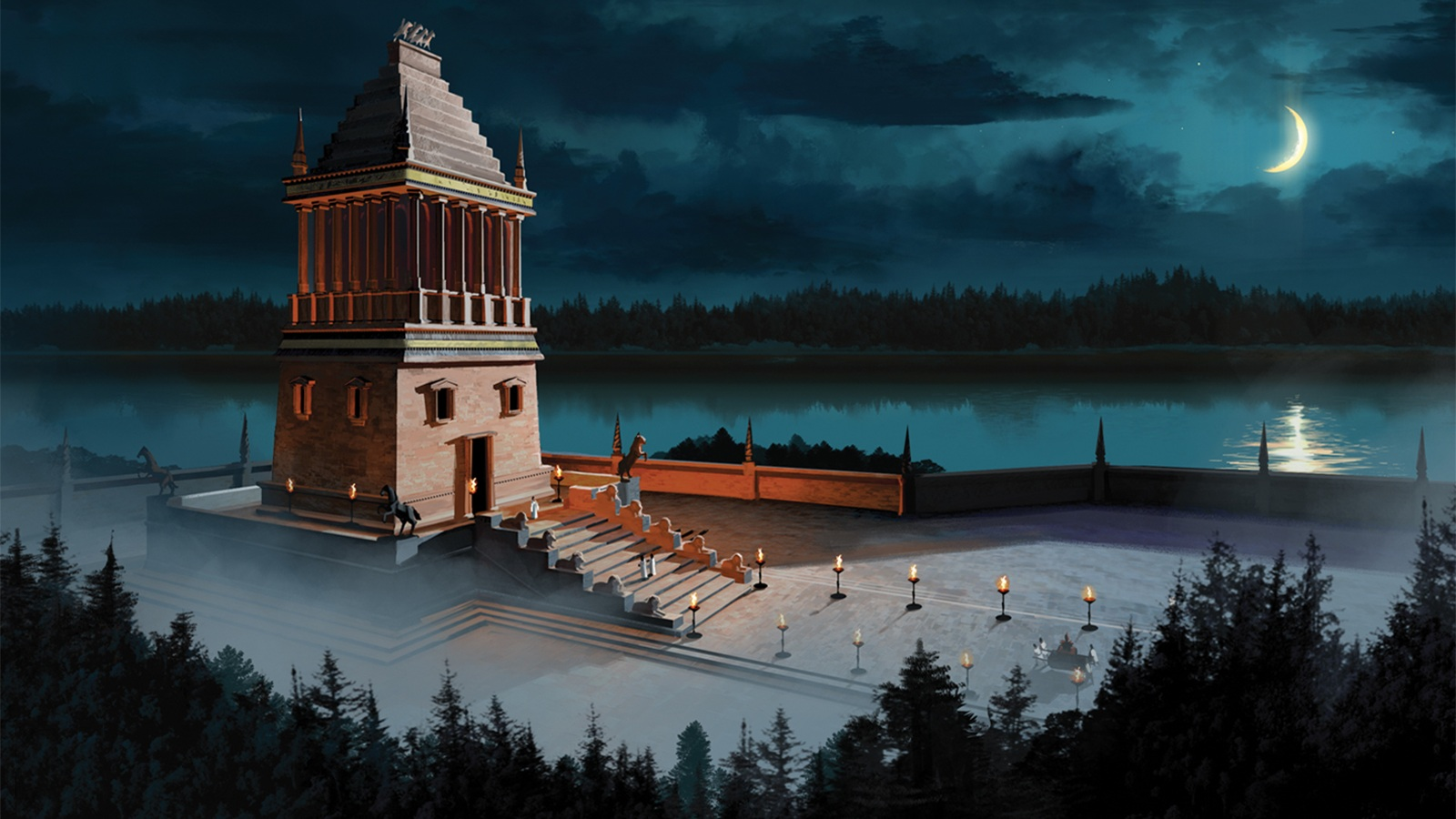 How To Use A Gif As A Wallpaper Iphone Mausoleum At Halicarnassus Wallpaper And Background Image