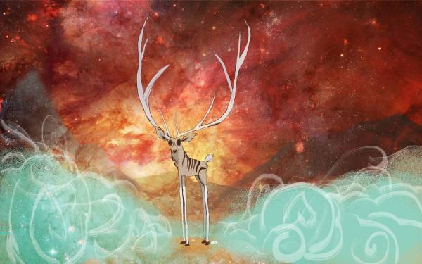 Abstract Deer Painting