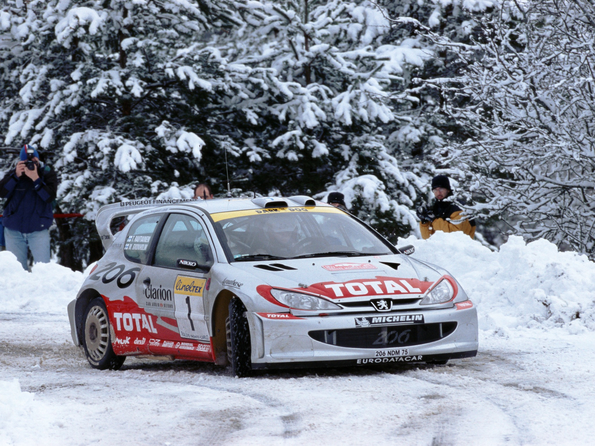 Nos Cars Wallpaper Peugeot 206 Wrc 1999 2003 Full Hd Fond D 233 Cran And