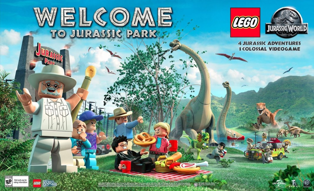 Image result for lego jurassic world game welcome to jurassic park