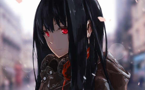 20 Black And Red Eyes Anime Girl With Long Hair Tomboy Pictures And