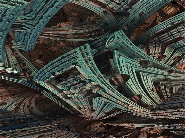 Abstrait 3d Fractale Artistique Fond 'cran