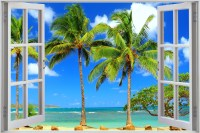 Window to Tropical Beach Full HD Wallpaper and Background ...