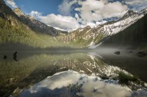 Avalanche Lake Glacier National Park Montana Usa Hd