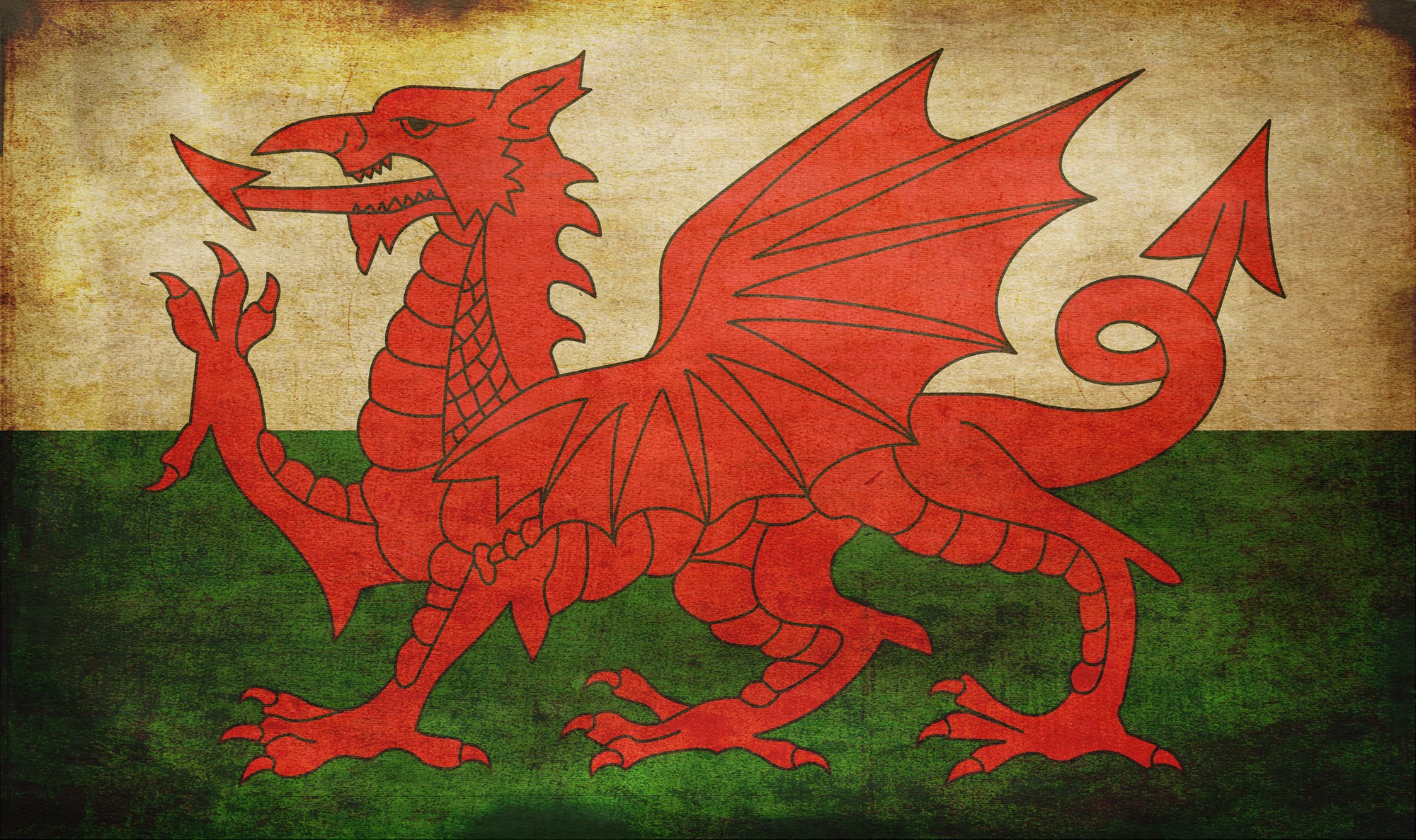 Vintage Map Iphone Wallpaper Flag Of Wales Full Hd Wallpaper And Background Image