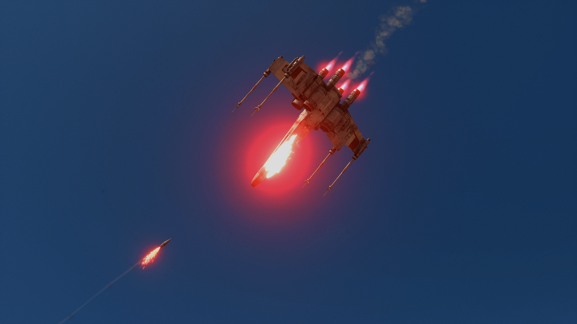 X Wing Fighter Iphone Wallpaper X Wing About To Explode Hd Wallpaper Background Image