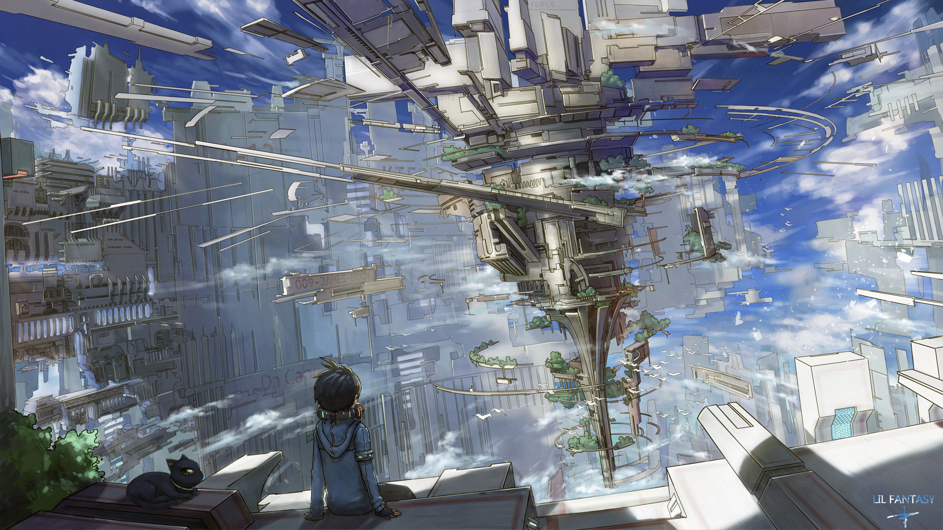 Futurist Anime Girl Wallpaper Original Hd Wallpaper Background Image 1920x1080 Id