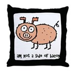Anti Bacon Compassion Throw Pillow