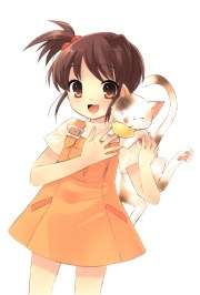 brown haired anime character