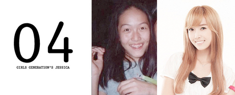 4.Snsd's Jessica<br /><br /><br /><br /> Girls' Generation's Jessica went blond, got braces and grew up to become t