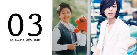 3.CN BLUE'S Jung shin<br /><br /><br /><br /> Jung Shin's adorable pre-debut photos of him as a chubby kid became a h