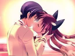 Cute Girl And Boy Kissing Wallpaper Anime Kiss Vampire Rpg Photo 14937785 Fanpop