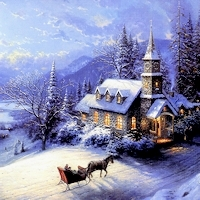 Thomas Kinkade Images Thomas Kinkade Christmas Photo