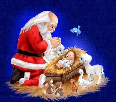Santa With Baby Jesus Christmas Photo 17895723 Fanpop