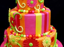 Brightly Colored Cake - Bright Colors Photo (18123278 ...