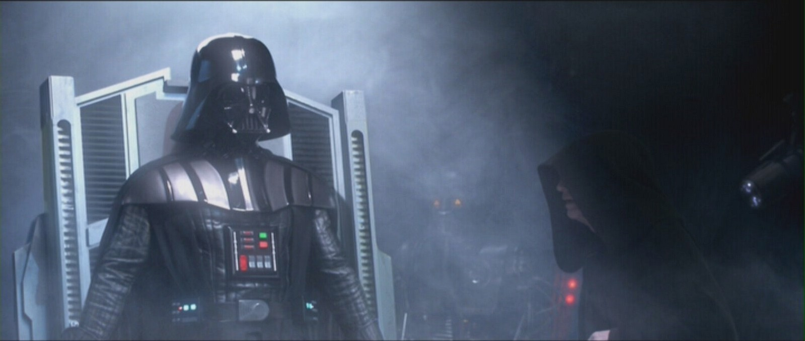 Vader rises from the table in Star Wars Episode III Revenge of the Sith
