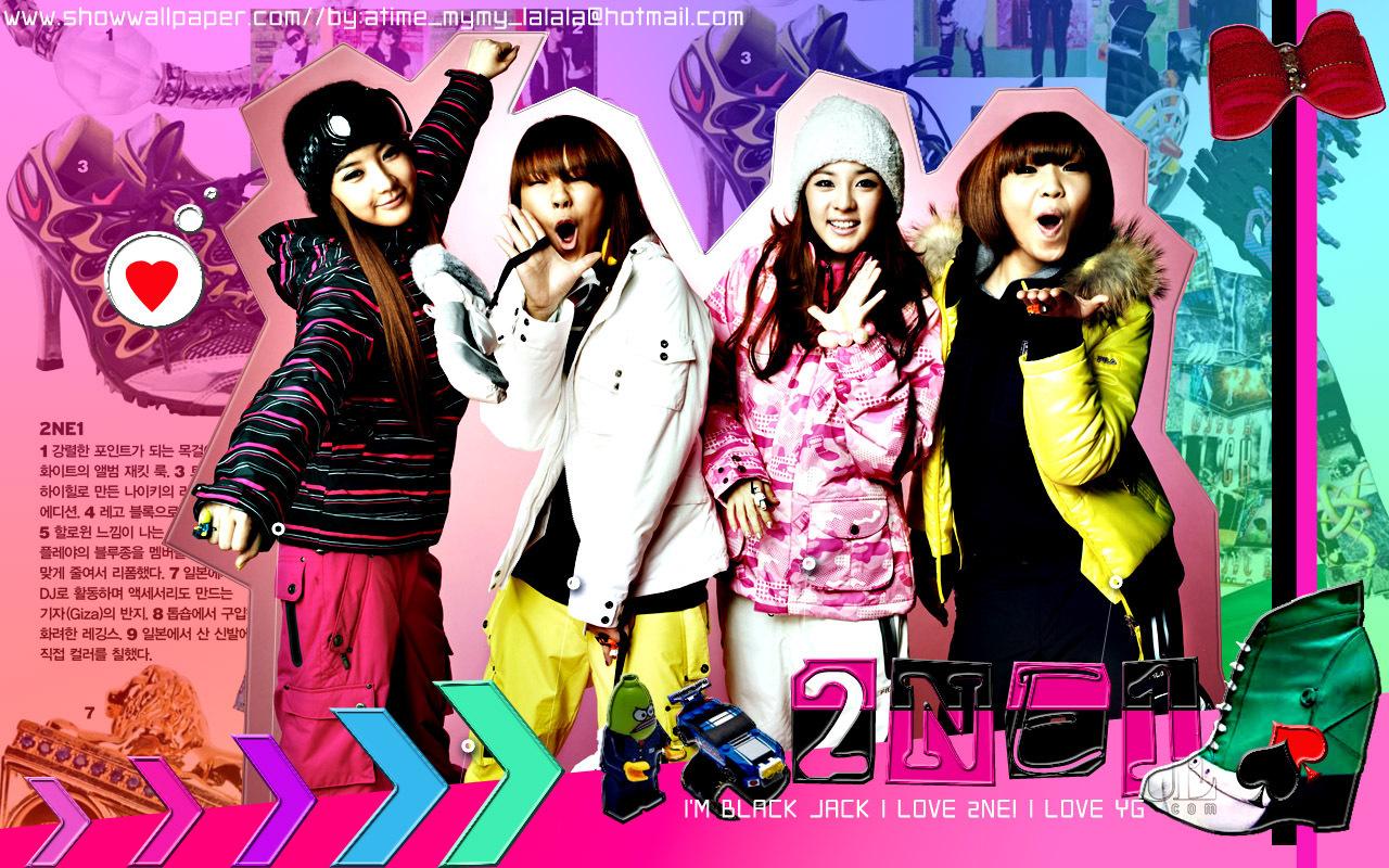 Wallpaper Happy Girl 2ne1 Wallpaper 18565638 Fanpop