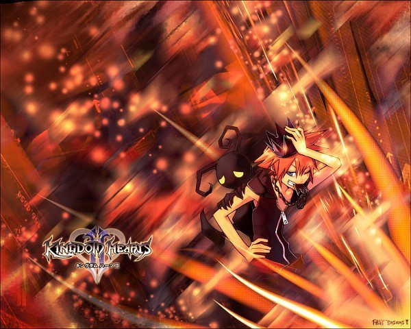Falling Hearts Wallpaper Kingdom Hearts