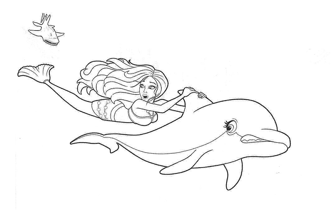 Cartoons Videos: Barbies cartoon print coloring page and