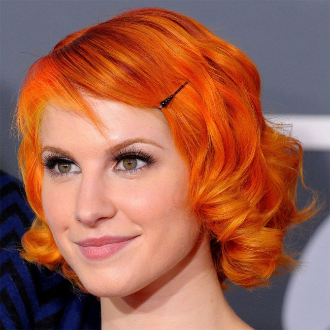 Short Bright Orange Hair Hayley Williams