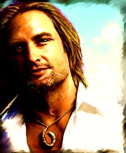 Sawyer bromance - josh-holloway fan art