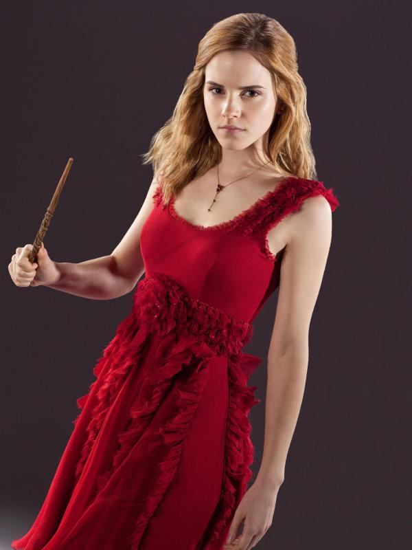 Hermione Granger In Red Dress Wedding Harry