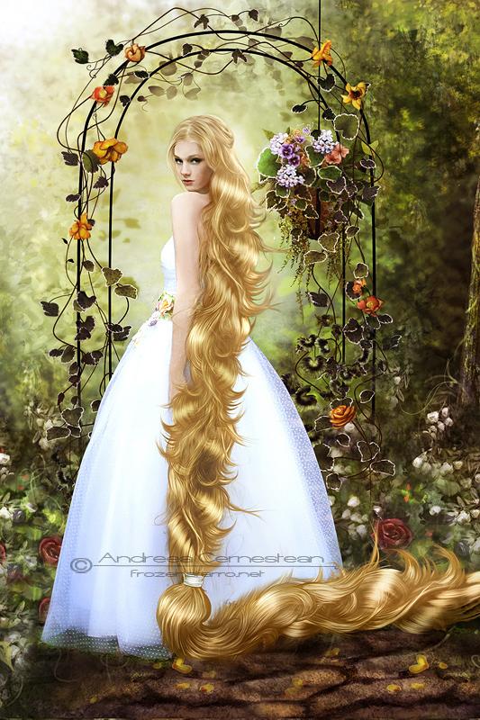 Cute Animated Little Girl Wallpaper Rapunzel Tangled Fan Art 21785708 Fanpop