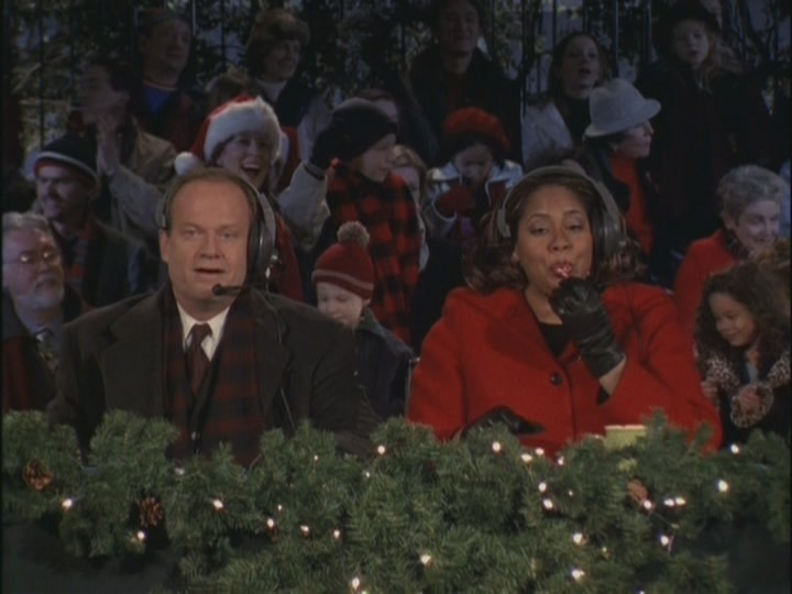 season 8 is notoriously weak so this one fits right in frasier pushes his way into hosting a popular christmas parade like his broadcasting hero