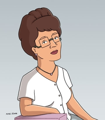 What is Peggy's pseudonym when buying shoes? - The King of the Hill Trivia Quiz - Fanpop