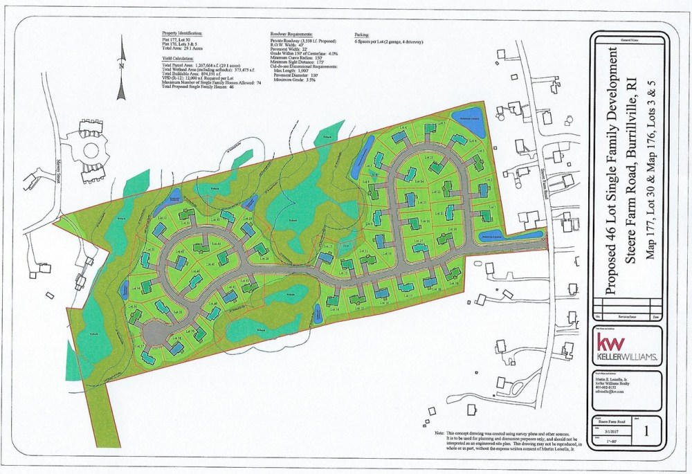 medium resolution of 46 lot single family plan