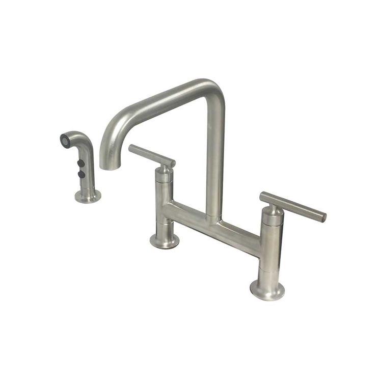 kohler k 7548 4 vs purist deck mount bridge faucet w spray stainless