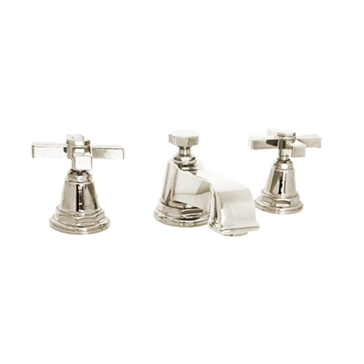kohler k 13132 3a sn pinstripe polished nickel widespread bathroom faucet