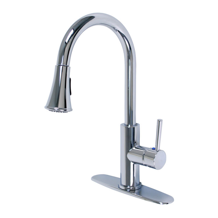 ultra faucets uf14203 stainless steel euro one handle pulldown kitchen faucet