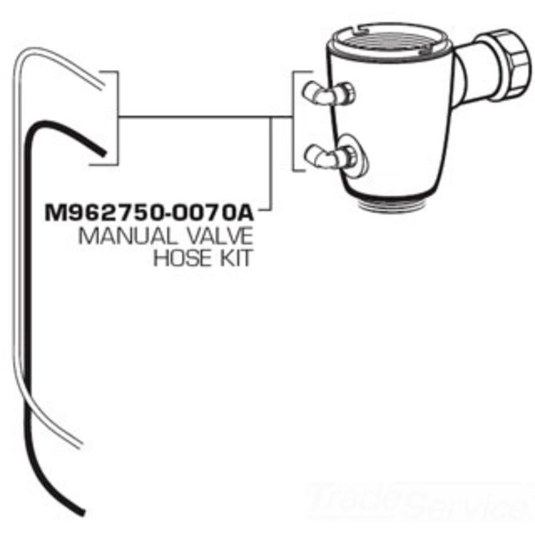 American Standard M962750-0070A Manual Valve Hose Kit for