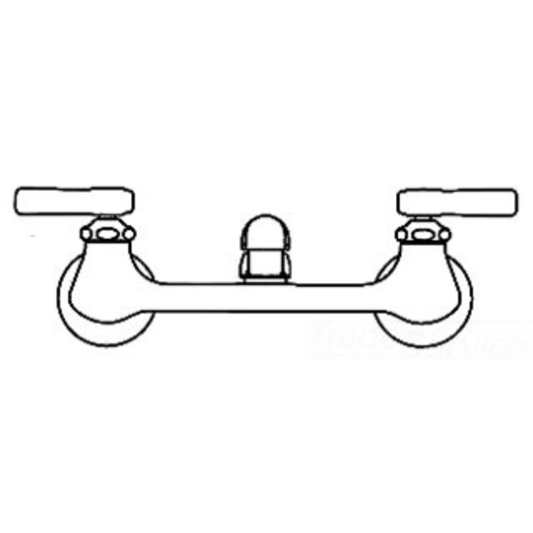 Chicago Faucets 540-LDWXFABCP Hot and Cold Sink Faucet